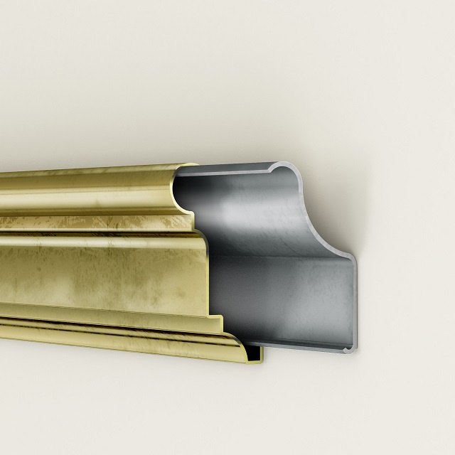 roll formed products brass rail