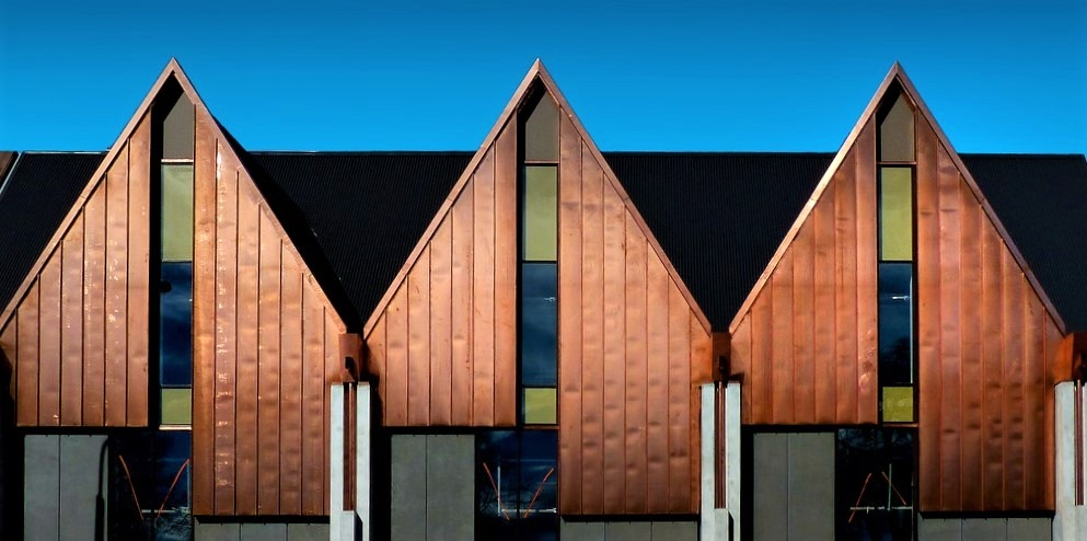 copper clad cladding siding