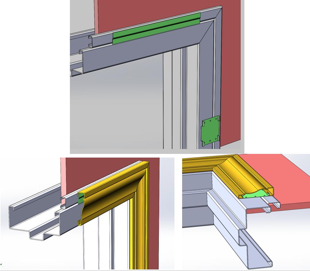 welding copper door casings