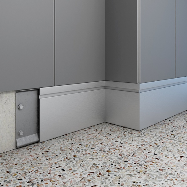 how to connect baseboard moulding - revealine render