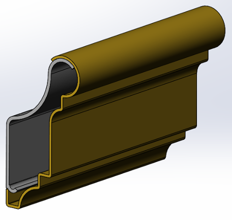 metal picture rail molding - rendering
