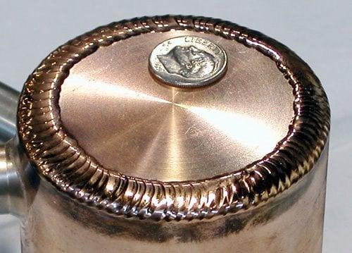 welding copper dime