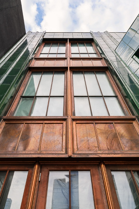 Decorative Metal Trim - copper windows