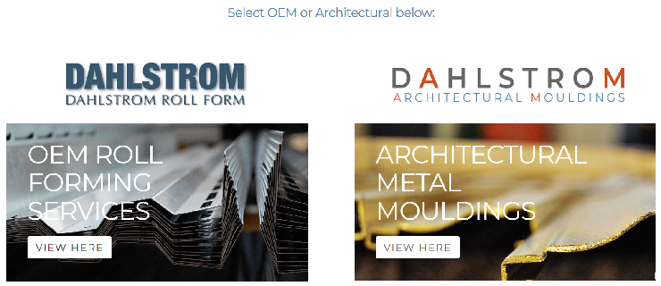 About Our Website Split: OEM Roll Forming | Decorative Metal Trim